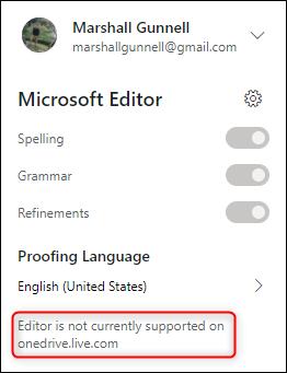 El editor no es un mensaje compatible