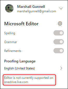 Editor is not supported message
