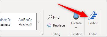 Editor option in ribbon