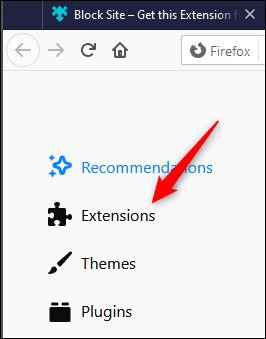 """Click """"Extensions."""""""