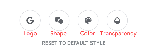 "The ""Customize Widget"" menu options."