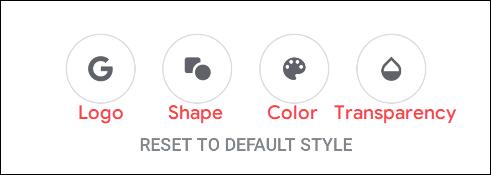 """Las opciones del menú """"Personalizar widget""""."""