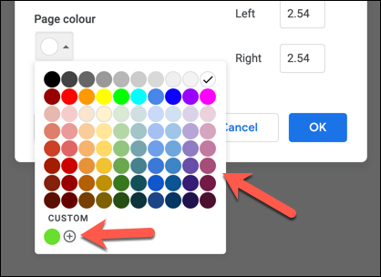 Select a preset color from