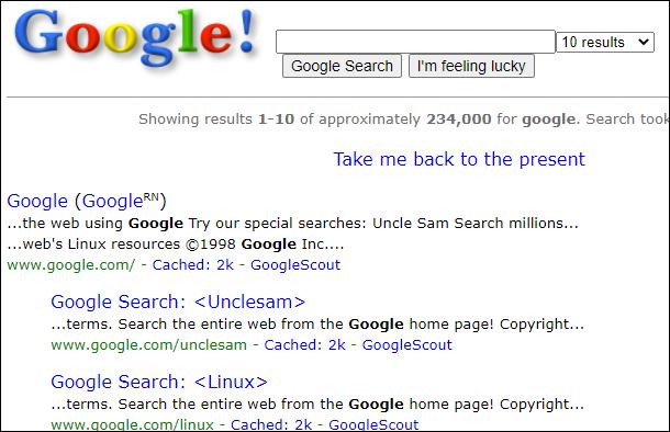 Google in 1998.