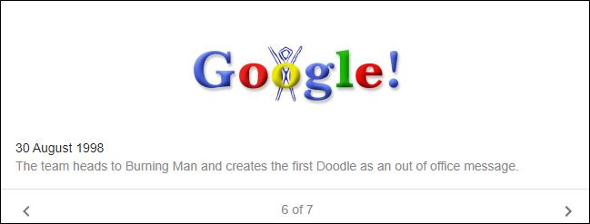 The Google logo on Aug. 30, 1998.