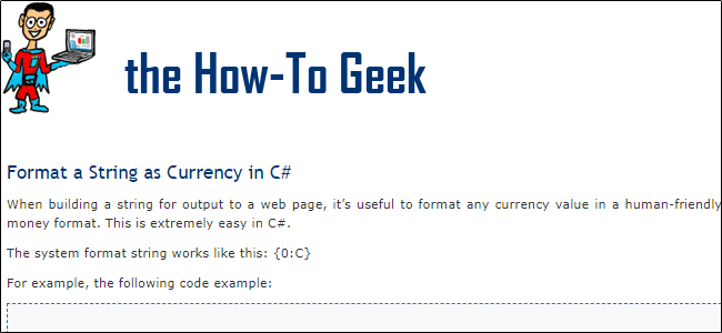 How to geek website preview from 2008