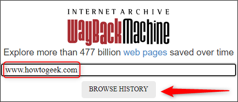 Internet Archive's wayback machine url