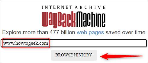 Internet Archive's wayback machine url