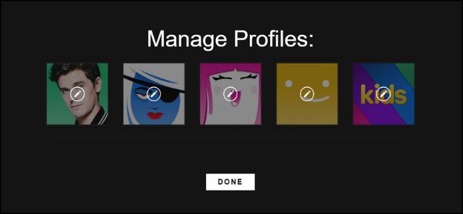 Selección de perfil Netflix