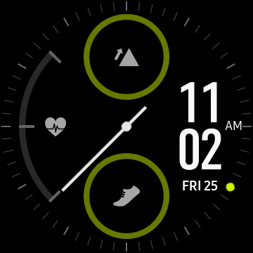 Example of a samsung galaxy watch face