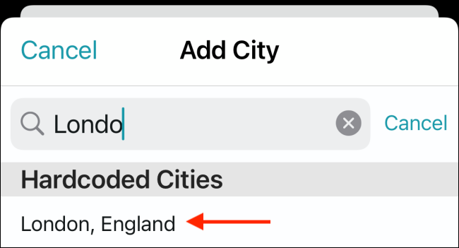 Search for and tap each location you want to add.