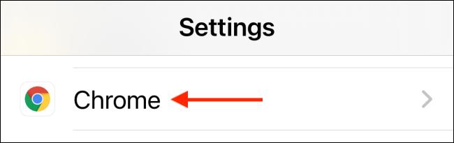"Tap ""Chrome."""