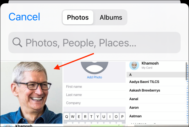 Select The Profile Photo