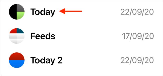 Select Today Template from Widgeridoo