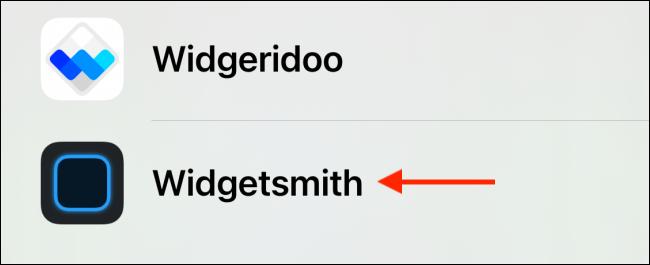 Tap the app your widget is in.
