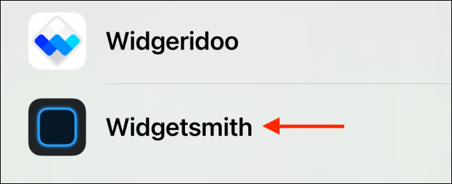 Select Widgetsmith