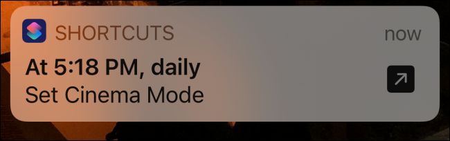 Shortcuts notification for triggered shortcut