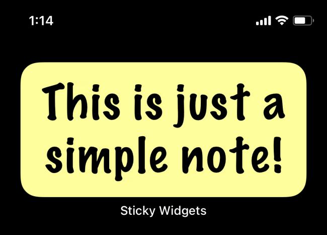 Sticky Widget Note Updated