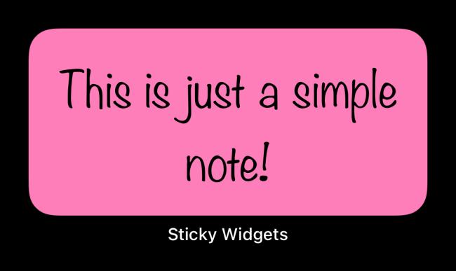 Sticky Widget With Pink Background