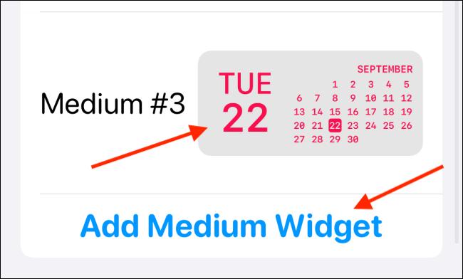 Toque Agregar nuevo widget o Seleccionar un widget