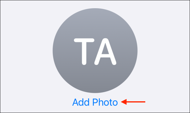 Tap Add Photo