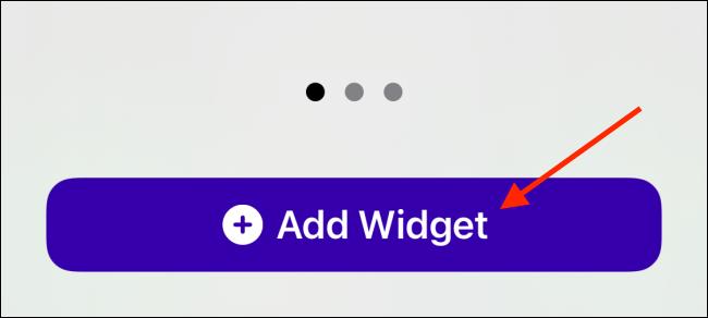 Tap Add Widget