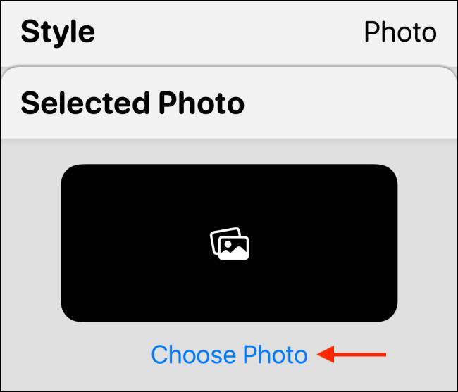 Tap Choose Photo