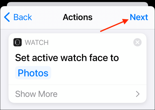 Tap Done Button After Defining Actions