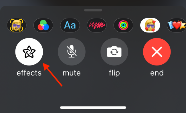 Tap Effects To Disable Memoji