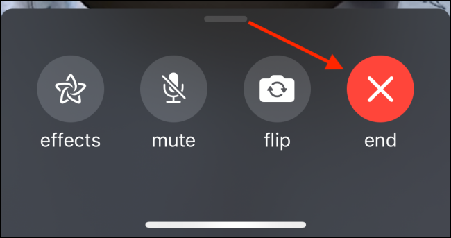 Tap End Button To Cut The Call