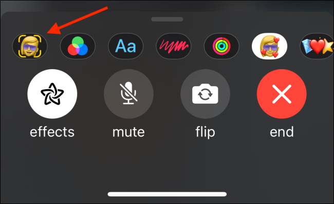 Tap Memoji Button from Effects