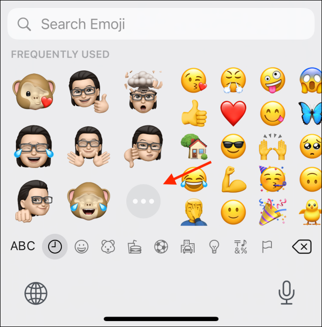 Tap Menu Button From Memoji Stickers Section