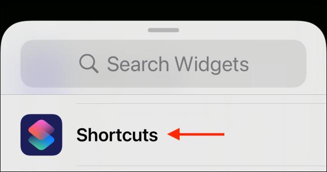 Tap Shortcuts from Widget Picker