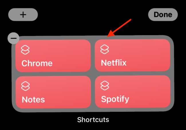 Tap The Shortcuts Widget