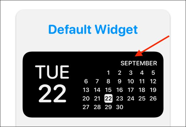 Tap The Widget Preview in Widgetsmith