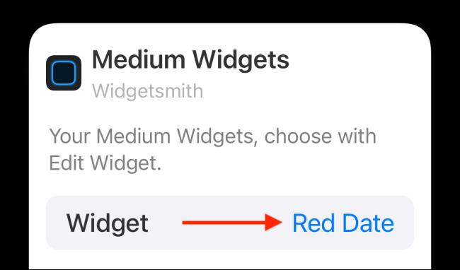 Toque en Widget de opciones
