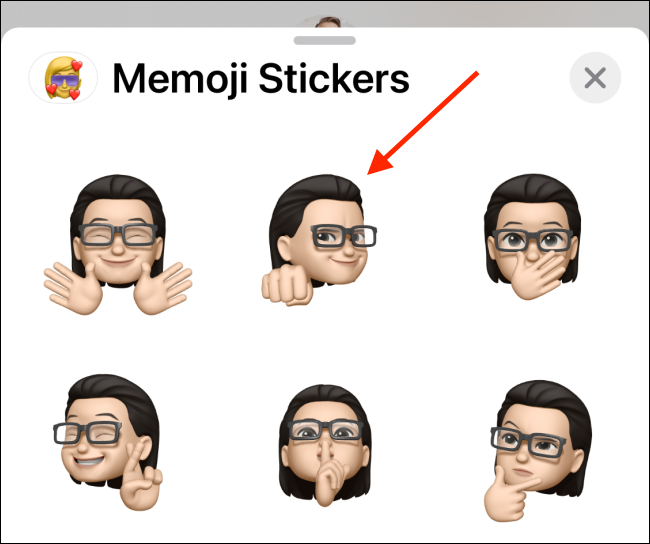 Tap on Your Memoji To Send It