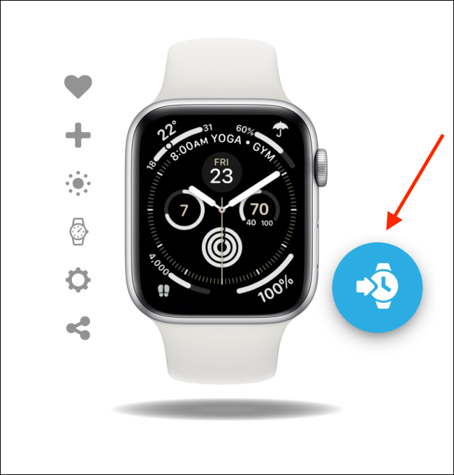 Tap the Add button from the watch face in Facer app