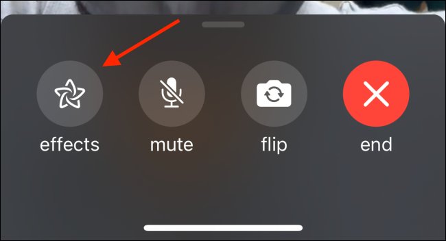 Tap the Effects Button from FaceTime Call