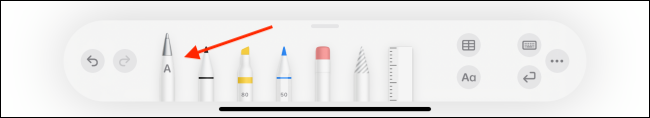 Tap the Scribble Icon from Pencil Toolbar