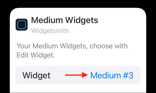 Toque la opción Widget