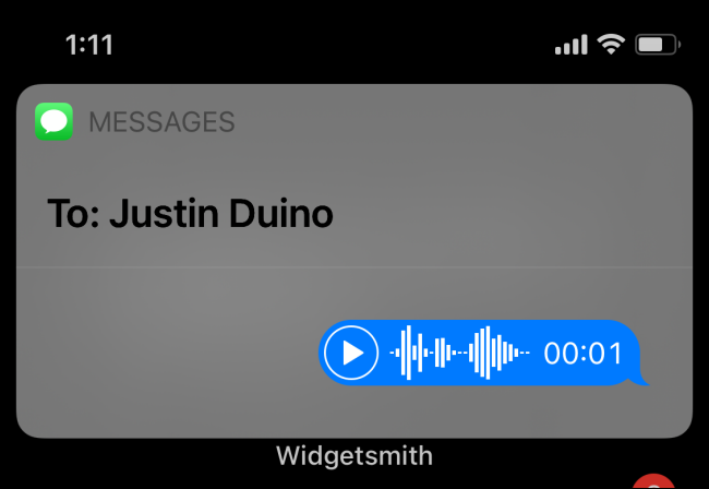 Voice Message Sent Via Siri