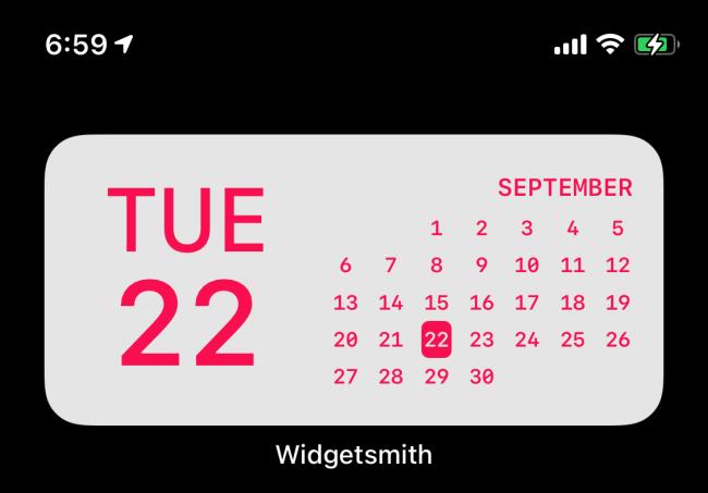 Widgetsmith Date Widget