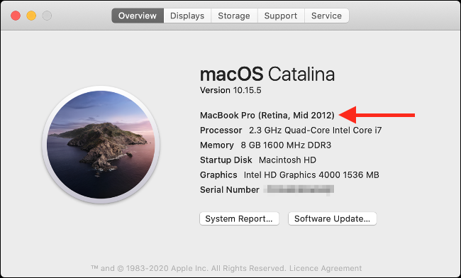 About This Mac in macOS