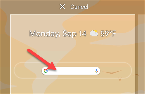 Drop the widget where you want it on the Home screen.