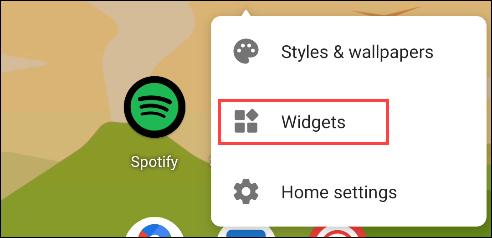 """Tap """"Widgets."""""""