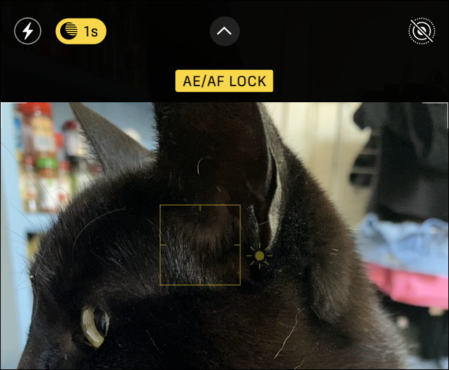 iPhone Camera AE/AF Lock