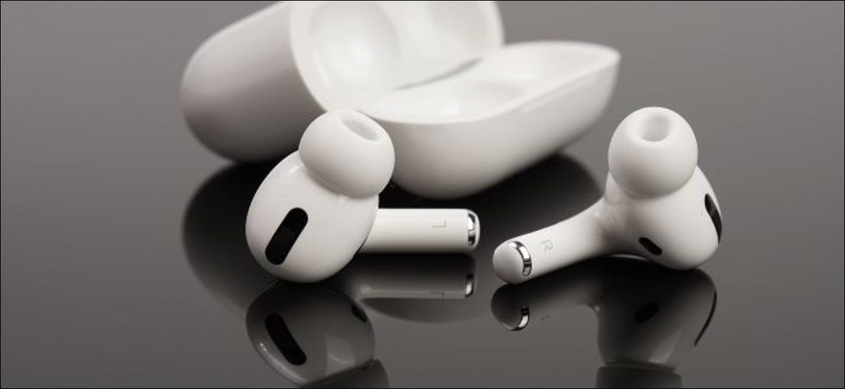 Apple's AirPods Pro along with their case.