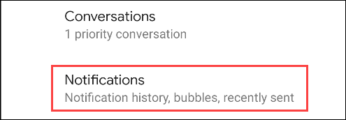 select notifications