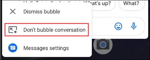 select don't bubble conversation